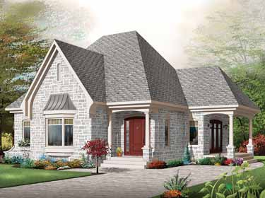 Architecture  Home Design on One Bedroom House Plans   Select Home Designs