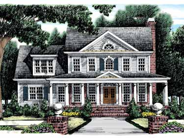 Double Story House Designs on Neoclassical House Plans And Neoclassical Designs At Builderhouseplans