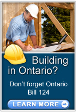 Bill 124, if you are building in Ontario