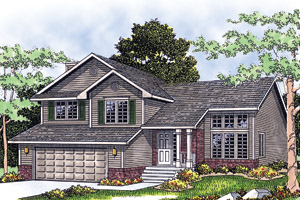 Split Level House Plans at Dream Home Source | Split Level Floor Plans