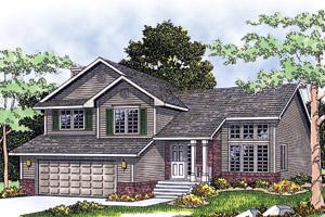 Split Level House Plans at Dream Home Source | Split Level Floor Plans
