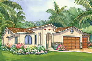 Spanish Home Plans - Spanish Style Home Designs from HomePlans.