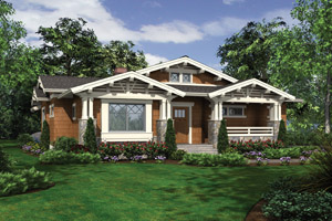 Bungalow Home Plans - Bungalow Style Home Designs from HomePlans.