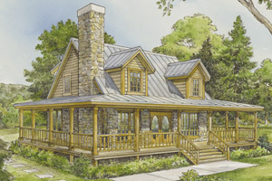 Log Cabin Ranch Style House Plans Woodguides