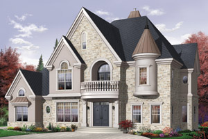 European Home Plans - European Style Home Designs from HomePlans.
