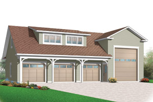 Home ideas for 4 car garage plans with apartment above