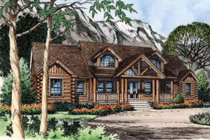 Log Cabin Home Plans - Log Cabin Home Designs by Homeplans.