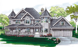 Queen Anne Home Plans - Queen Anne Style Home Designs from HomePlans.