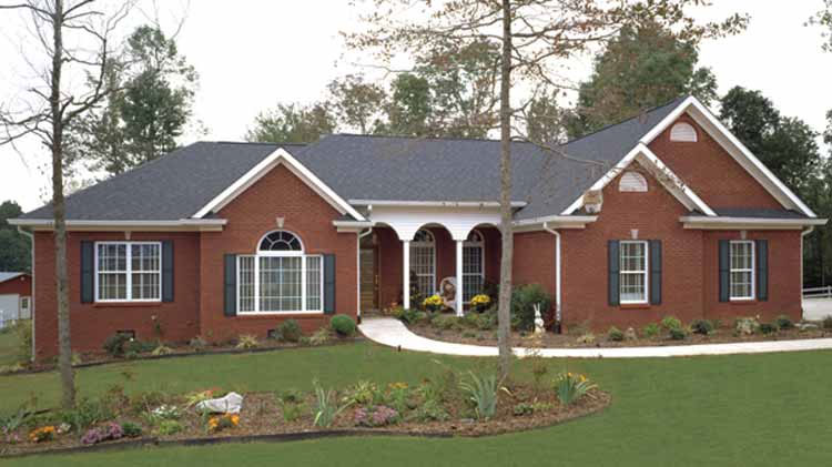 Three Bedroom Ranch Home Plan - HOMEPW02945