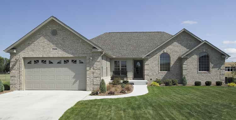 Three Bedroom Ranch Home Plan - HOMEPW03019 - Front View