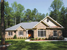 Three Bedroom Colonial Home Plan HOMEPW03065 - Front View