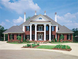 Four Bedroom Neoclassical Home Plan - HOMEPW03715 - Front View