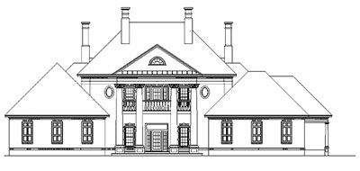 Black and White Plan Drawing - HOMEPW03715