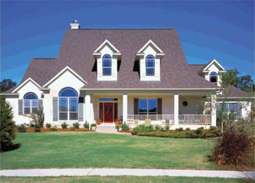 Three Bedroom Country Home Plan - HOMEPW06824 - Front View
