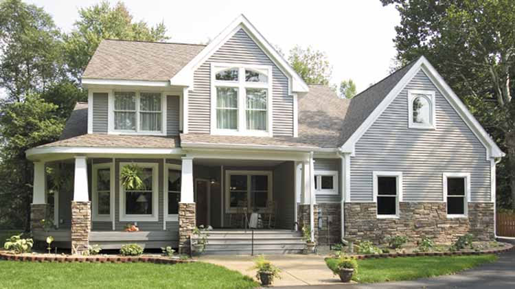 Three Bedroom Craftsman Home Plan - HOMEPW09939 - Front View