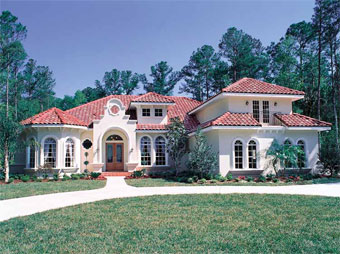 Five Bedroom Italianate Home Plan - HOMEPW13343 - Front View