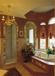 Master Bath of Home Plan HOMEPW13343