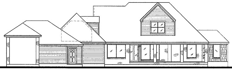 Home Plan Drawing - HOMEPW13535